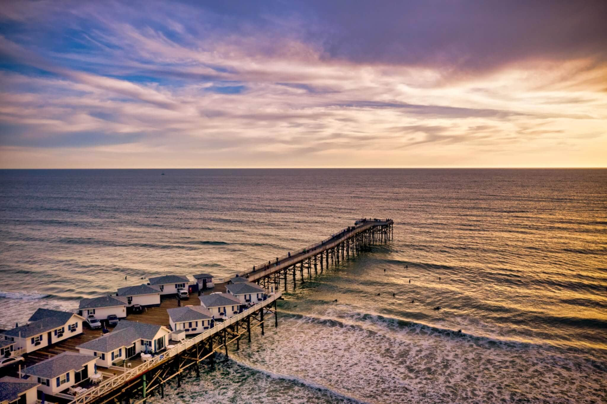 Crystal Pier in Pacific Beach, CA